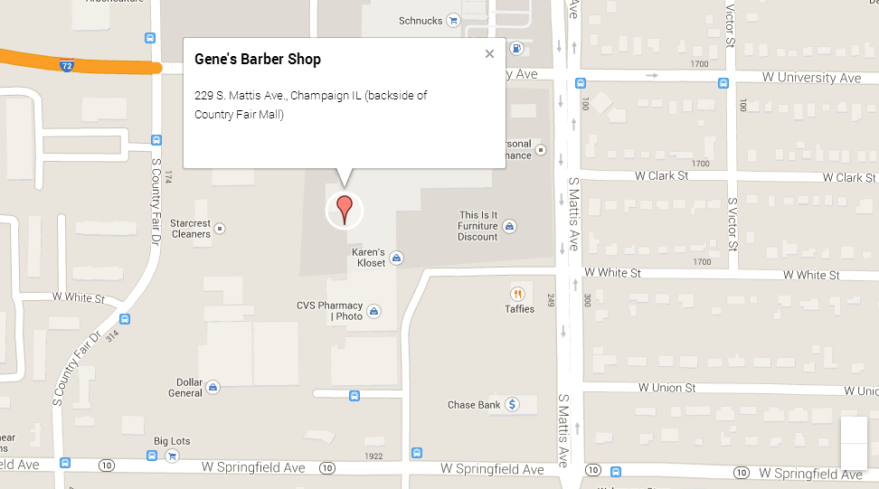 Map of Gene's Barber Shop